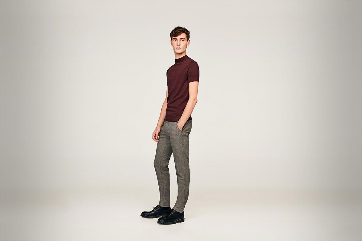 Pantaloni simpli chino structurati - ZARA