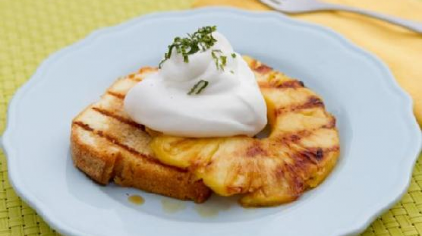Imagine impresie Grilled Pound Cake with Tequila-Soaked Pineapple